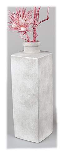 Formano Dekorative schwere Bodenvase 45cm Creme Matt