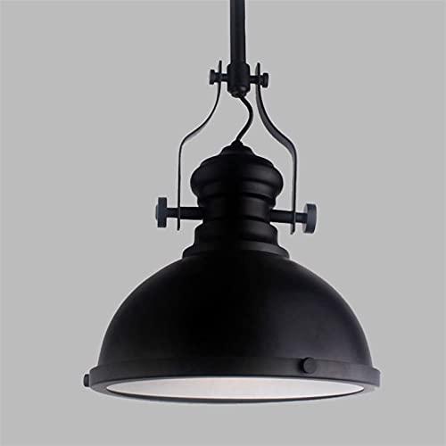 Accesorio de iluminación Pintura negra lámpara colgante retro ligero luces industriales y cúpula de país / cuenco ufo Metal Shade Chandelier Luz de techo para loft sala de estar Restaurante Cafe Cafe