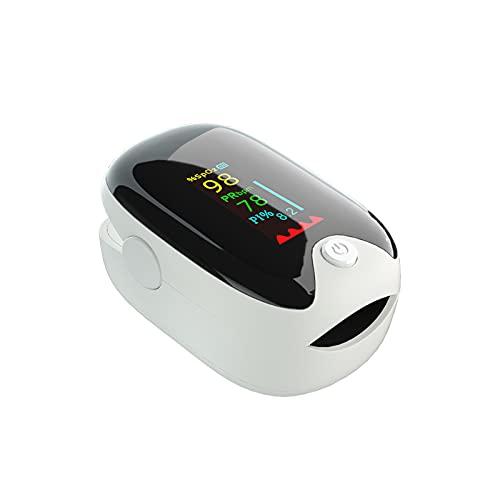 Inicio Oxímetro De Pulso Oxímetro De Pulso De Dedo LED OLED Para Adultos Y Niños Anciano, Monitor De Nivel De Oxígeno Dedo Para Adultos Y Niños, Monitor De Frecuencia Cardíaca Oxímetro De Dedo