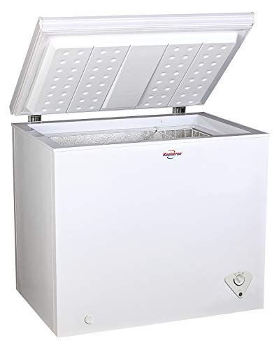 Koolatron KTCF195 Compact Top-Opening Chest, Mini Freezer with 7.0 Cubic Feet Capacity-Ideal for Home, Apartment, Condo, Cabin, Basement, Garage-White
