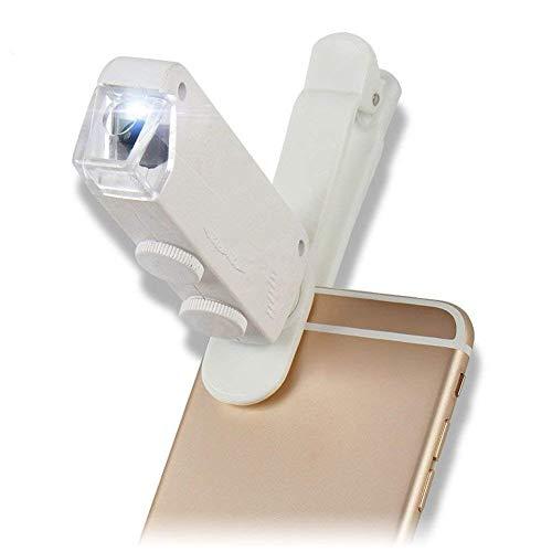LSNLNN Lupas, Lupa con Luz, Teléfono Móvil Lupa Gafas 160X 200X Zoom Altas Ampliación con Lámpara Led Microscopio Portátil para Monedas Sellos de Joyería Textil