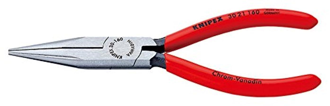 間接的似ている挑発するクニペックス KNIPEX 3021-160 ロングノーズプライヤー (SB)
