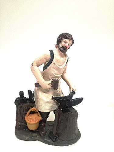 Creare Italia S.R.L. Presepe Mestieri Fabbro H 12 Personaggi Presepe Figure Presepe Statue Statuine Decorazione Presepe H cm 12