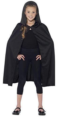 Smiffy's - Capa con capucha larga, color negro (44203)