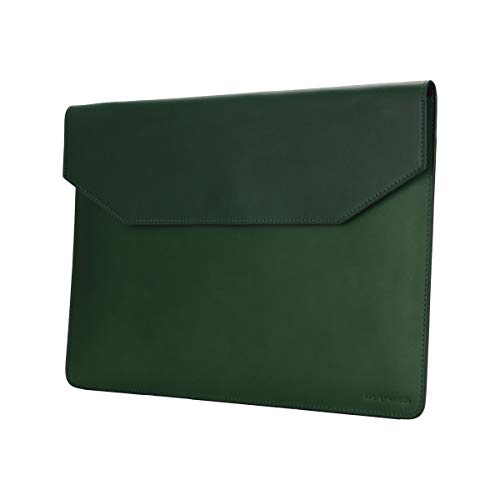 Kasper Maison 13 inch Leather Laptop Sleeve for MacBook Pro 2016-2020 and Air 2018-2020 - Green