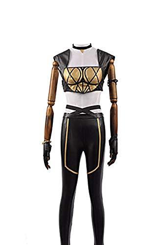 LOL KDA Akali Ahri Kaisa Cosplay Girl Battle Dress Halloween Costume