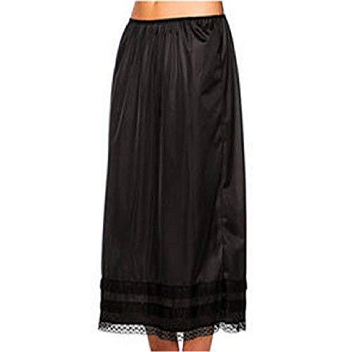 Moda Mujer Cintura elástica Slip Damas Mujer Encaje Falda Larga Enagua Extensor de Enagua Faldas Blancas L-3XL