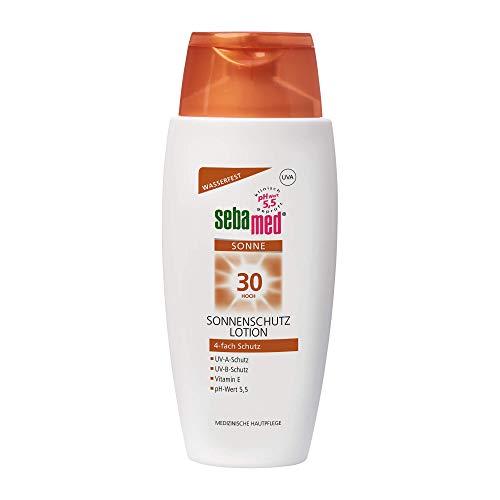 Sebamed Lotion LSF 30, täglicher Sonnenschutz, insbesondere für den Körper, 4-fach Schutz, 150 ml