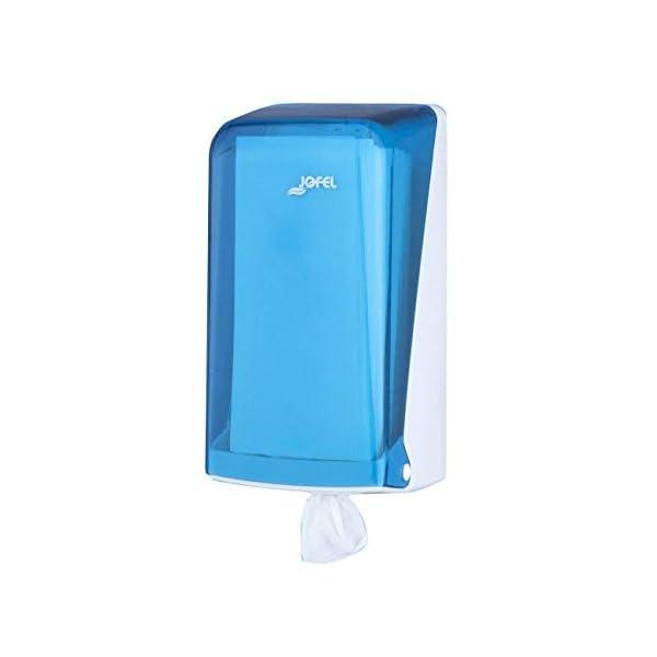 Jofel AG33200 Azur Dispensador de Papel, Mecha Mini, Azul