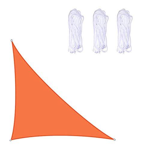 Vela De Sombra Triangular Derecha Impermeable Para Jardín Al Aire Libre Patio 95% UV Azul Claro Protección Solar Vela Con Cuerda Toldo De Protección Solar Toldo Negro Nara(Color:naranja,Size:5*5*7.1m)