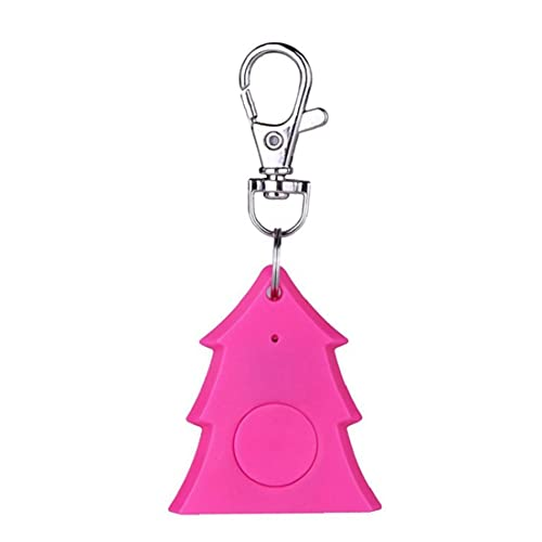 Runfon Llavero Finder Mini Navidad árbol Forma Etiqueta Inteligente Bluetooth 4.0 Localizador de Seguimiento inalámbrico Rosy