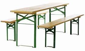 Deuba ensemble table pliante avec 2 bancs biergartengarnitur 1 a brauereiqualität 67er tischbreite67cm couleur : ocre longueur 220 cm