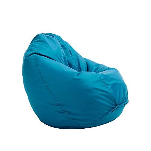 Bruni Sitzsack Classico M in Lichtblau – Sitzsack mit Innensack zum Zocken & Lesen, Abnehmbarer Bezug, lebensmittelechte EPS-Perlen als Bean-Bag-Füllung, aus Deutschland