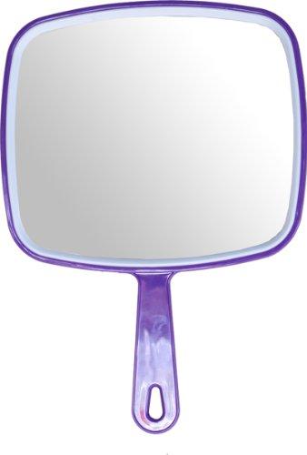 Hair dressing salon professional PURPLE hand held mirror