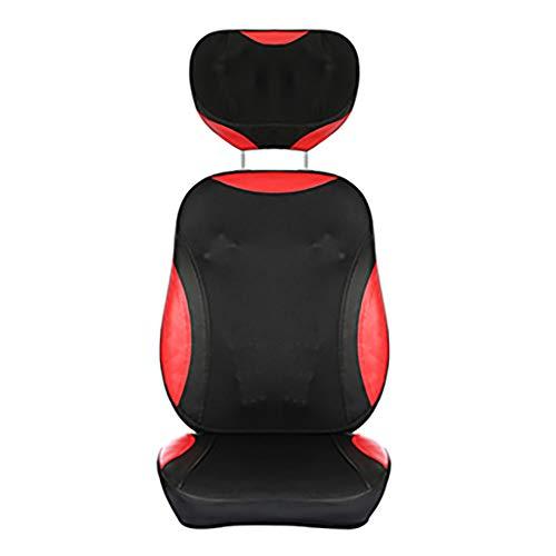ACCDUER Rücken- und Nackenmassagegerät, Büromassagegerät mit Rollenstuhl, Sitzkissen mit Wärme, Vibration, tiefes Kneten zur Linderung von Nacken-, Rücken- und Schulterschmerzen