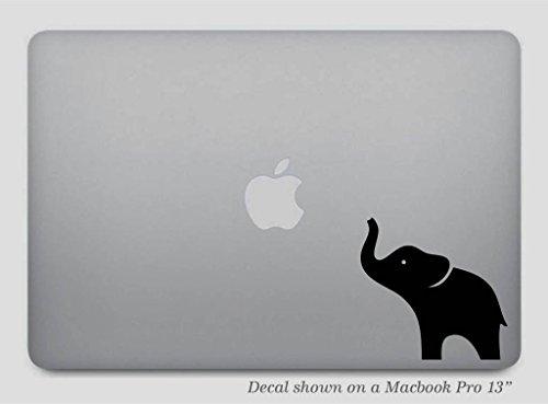 Black Elephant MacBook Decal or Car Sticker - Removable Vinyl Skin for Apple MacBook Pro Air Mac Laptop - G001K