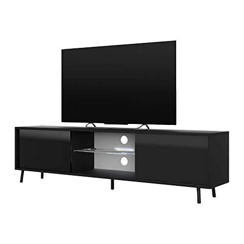 Selsey TV-Lowboard, Schwarz, 140 x 40,5x31,3