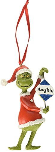 Grinch Naughty or Nice Hanging Ornament