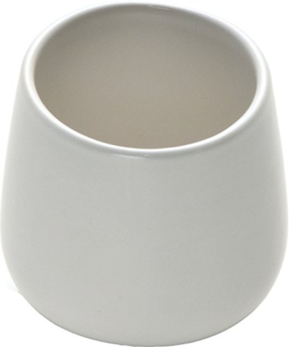 Alessi OVALE Mokka-Obertasse 4 Stück aus Steingut, Weiß
