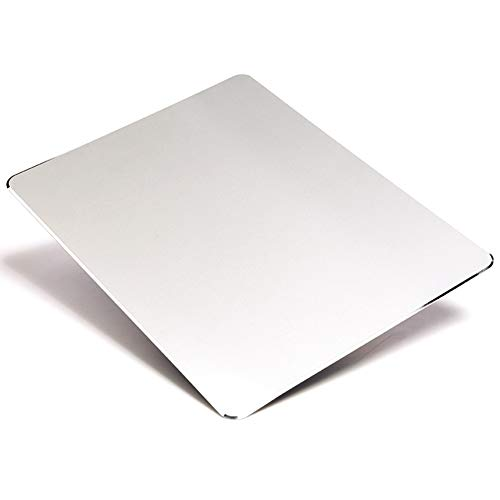 dorisdol Metall Mauspad Aluminium harte Maus Matte doppelseitig rutschfest wasserdicht schützend für Gaming Home Office groß 9,05 x 7,08 Zoll (Silber)