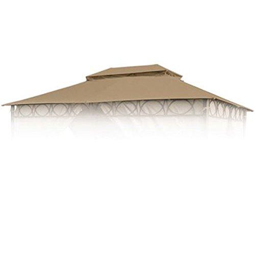BURI Ersatzdach braun für Cape Town Garten-Pavillon 4x3m Pavillondach Kaminabzug