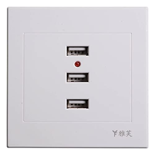 3 puertos USB 2.0 cargador de pared adaptador de enchufe 10A toma de corriente placa panel hogar enchufes eléctricos 110 ~ 250 V