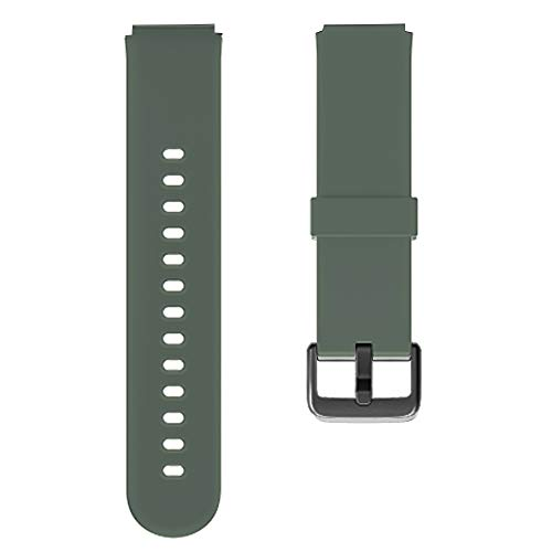 Soft Silicone Replacement Watch Bands for YAMAY 023 ID205U&021 ID205L Smart Watch (Green)