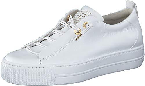 Paul Green Damen SUPER Soft Halbschuhe, Damen Low-Top Sneaker,Ladies,Women\'s,schnürschuhe,schnürer,Halbschuhe,Weiß/Gold (008),38.5 EU / 5.5 UK