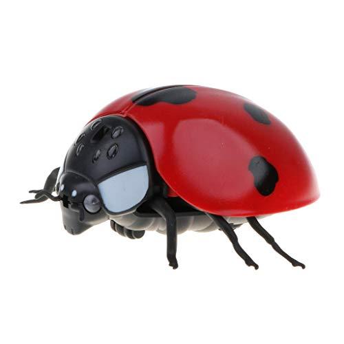 XYSQWZ Diversión Mando a Distancia por Infrarrojos Simulación Falsa Mariquita Simulación Animal RC Toy Prank s Broma Scary Trick Bugs para Party Game