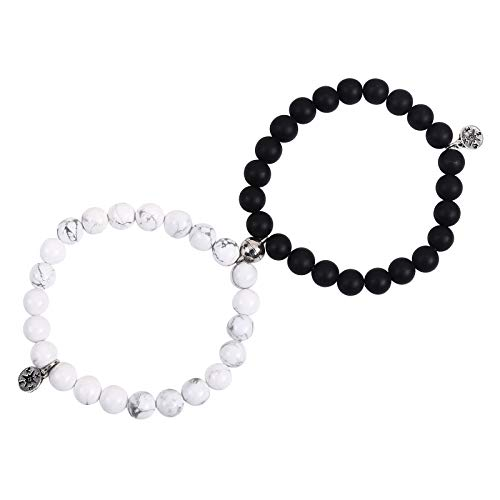 Unijew Graduation Gifts for her 2021 2 Pcs Magnetic Friendship Bracelet for Women Men, Beaded Matching Compass Bracelets for Boys and Girls, Connect Bracelet Graduate Gift for Best Friends Classmates
