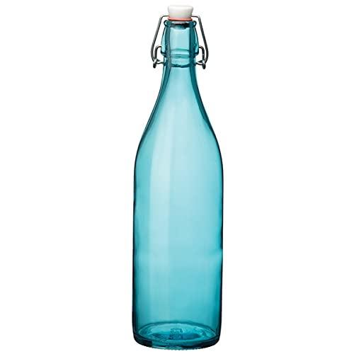 Giara Swing Top - Botella de cristal para cordiales y conservas, color azul (1 L)