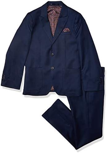 Isaac Mizrahi Boys 2 Piece Wool Blend Birdseye Suit Navy 7 product image