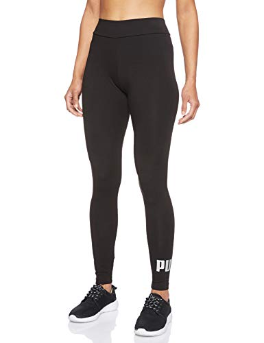 PUMA Essentials W, Leggings Donna, Nero (Cotone Black/Silver Metallic), M