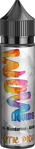 E-Zigarette E Liquid ohne Nikotin I 1 x 50ml I WOW LIQUIDS Vape Liquid 70 VG/30 PG für elektronische Zigaretten oder Shishas,Nikotinfrei I Made in Germany I Sucralosefrei (Exotic Dream)