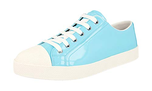 Prada Damen Türkis gebürstetes Spazzolato-Leder Leder Sneaker 3E6202 OYG F064W 40 EU