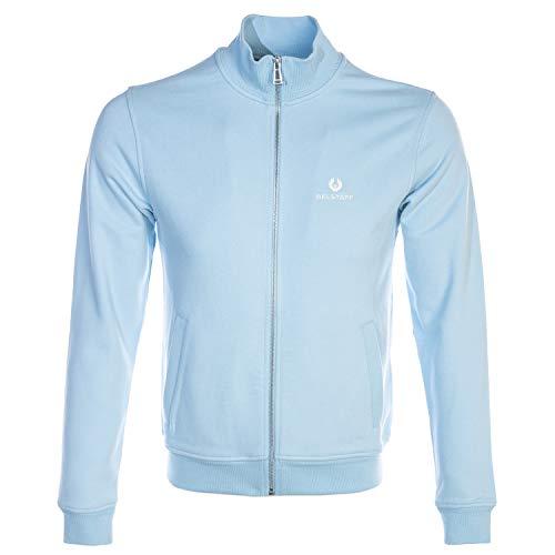 Belstaff Classic Zip Through Sweatshirt in Sky Blue