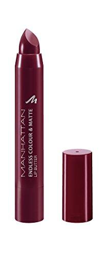 Manhattan Endless Colour & Matte Lip Butter – Lippenstift mit langanhaltendem Matt-Effekt in Weinrot – Farbe Wine O Clock 960 – 1 x 3g
