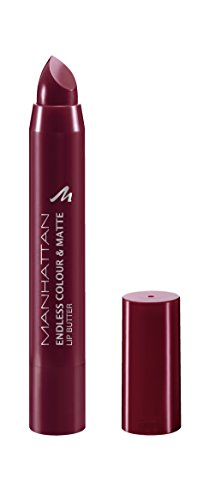 Manhattan Endless Colour & Matte Lip Butter – Lippenstift mit langanhaltendem Matt-Effekt in Weinrot – Farbe Wine O Clock 960 – 1 x 3g