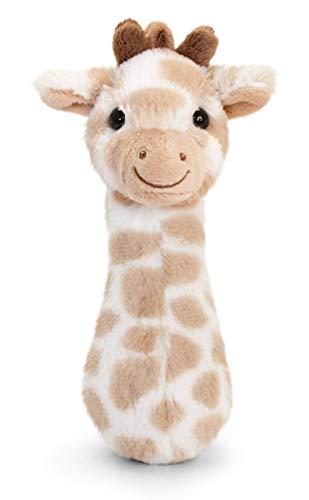 tachi Baby Stofftier mit Rassel, Plüschtier Giraffe Braun 15 cm, Kuscheltier Babygiraffe