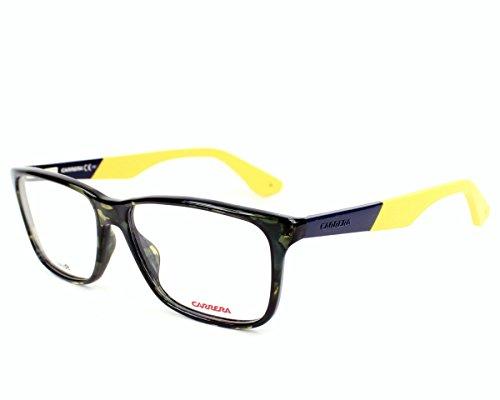 Carrera monturas armazones de gafas anteojos Ca5521 para hombre, color marrón/naranja, 53 mm Vert havane - Jaune XL