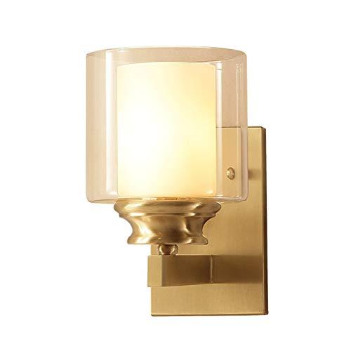 Carl Artbay renovatie van het huis / wandlamp van koper voor de slaapkamer, eenvoudige spiegel voor de nacht, koplamp voorzijde E27, 1 stuk
