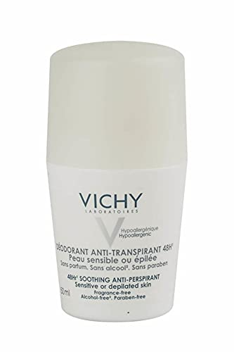 Deodorante Sensitiv antitraspirante 48H di Vichy, Deodorante Unisex - Roll on 50 ml
