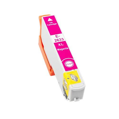 TONERPACK T2633/T2613 (26XL) Magenta Cartucho de Tinta Generico - Reemplaza C13T26334012/C13T26134012 para Epson