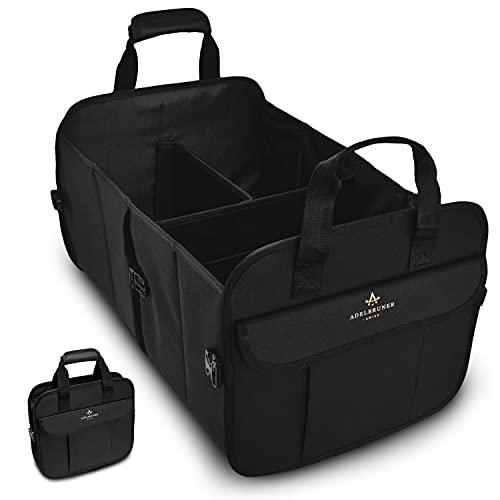 ADELBRUNER® Kofferraum Organizer - Wasserfeste und zuverlässige Kofferraumtasche für mehr Ordnung im Kofferraum - Faltbarer Auto Organizer