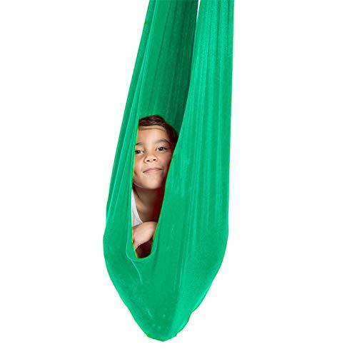 WCX Columpio De Silla De Hamaca Hamacas Columpio De Interior Columpio De Terapia para Niños Hamaca Abrazos para Niños Y Adolescentes Hamacas De Columpio (Color : Light Green, Size : 1.5x2.8m)