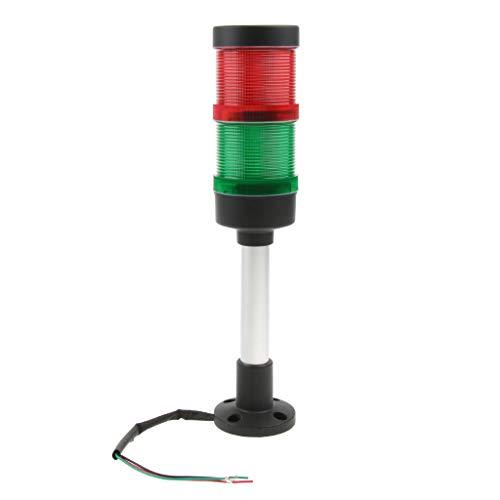 F Fityle DREI Farben (rot + grün) LED Strobe Blinklicht Notfall LED-Licht Warnblinkleuchte Warnlichter Blitzleuchte 24V DC IP65