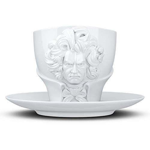 Fiftyeight t800101 Talent Mug – Ludwig Van Beethoven 8.8 x Blanc 10 x 10 cm