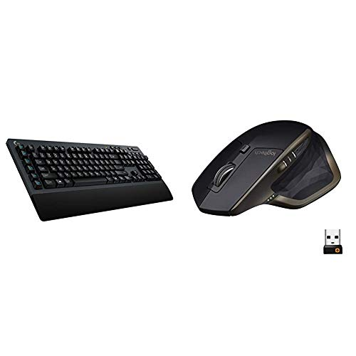 Logitech G613 Lightspeed Wireless Mechanical Gaming Keyboard - Black & MX Master Wireless Mouse – High-Precision Sensor, Speed-Adaptive Scroll Wheel, Easy-Switch up to 3 Devices - Meteorite Black
