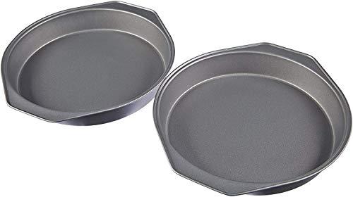 Amazon Basics - Backformen für Kuchen, 22,8 cm, antihaftbeschichtet, Karbonstahl, 2er-Pack
