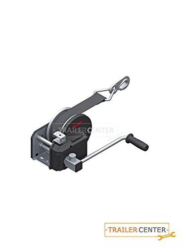 AL-KO- Seilwinde gebremst PLUS • Typ 901 PLUS mit Abrollautomatik • mit 10m Band zum Schleppen montiert bis 900kg